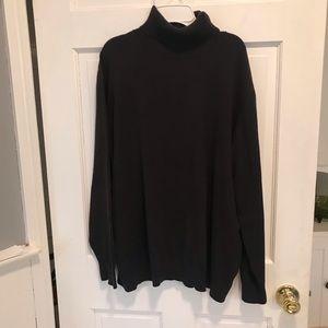 Land's End black turtleneck sweater .. ladies XL